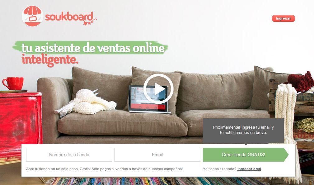 soukboard, solución argentina para crear tiendas en Internet