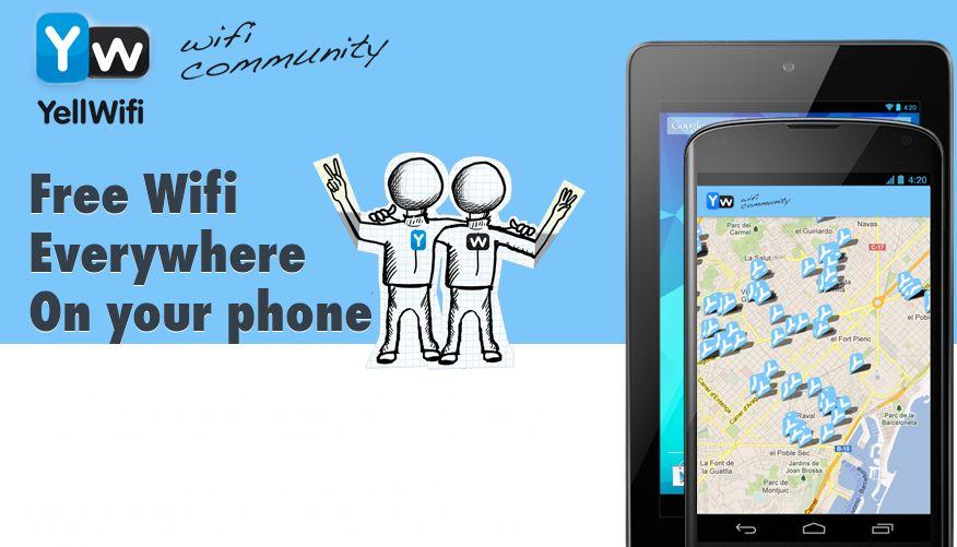 YellWifi – Una aplicación para disfrutar de WiFi gratis en cualquier parte [Android]