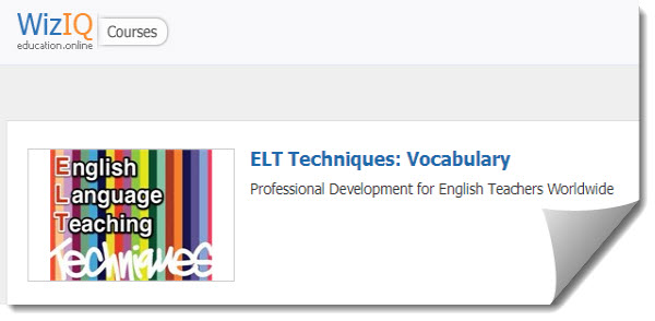 ELT Techniques: Vocabulary