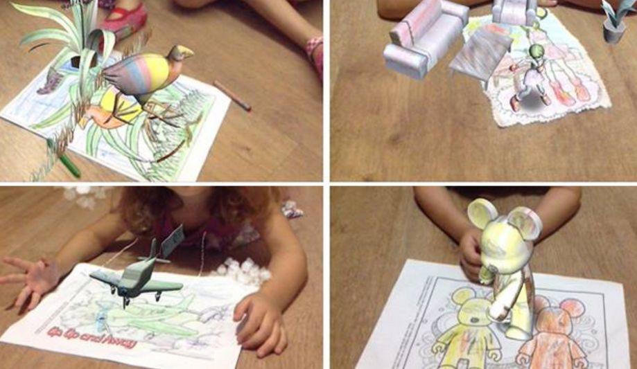 Nuevo juego de Realidad Aumentada para niños: dibujos de colores que cobran vida