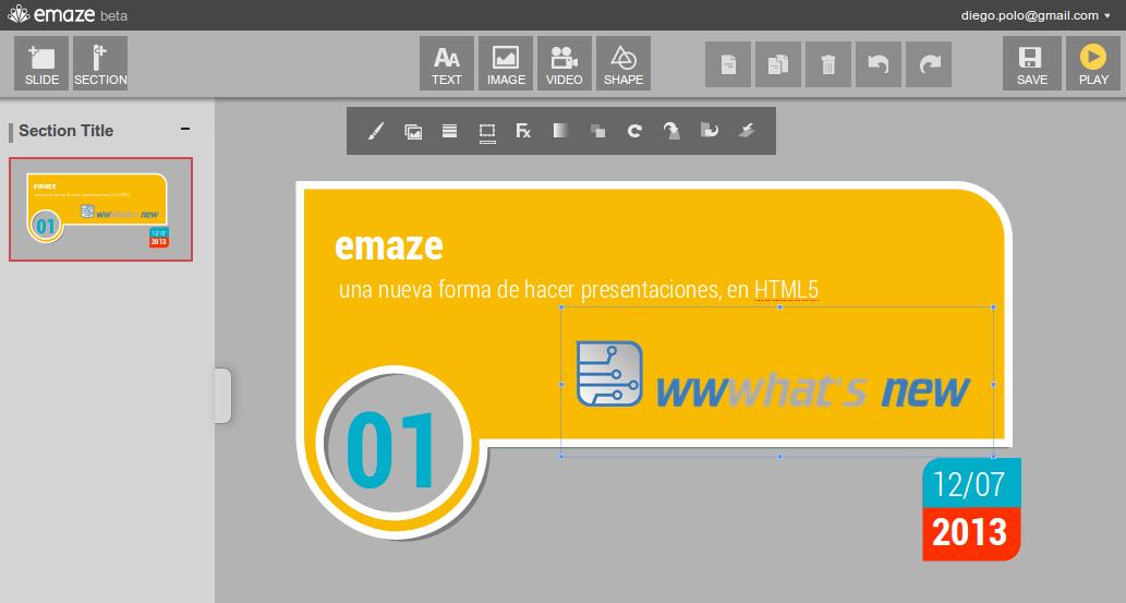 emaze – Para hacer presentaciones en HTML5