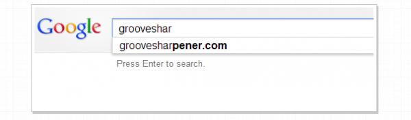 Google añade a Grooveshark en la lista de «Sitios Piratas bloqueados»