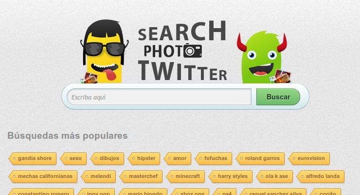 Nuevo buscador de fotos en Twitter