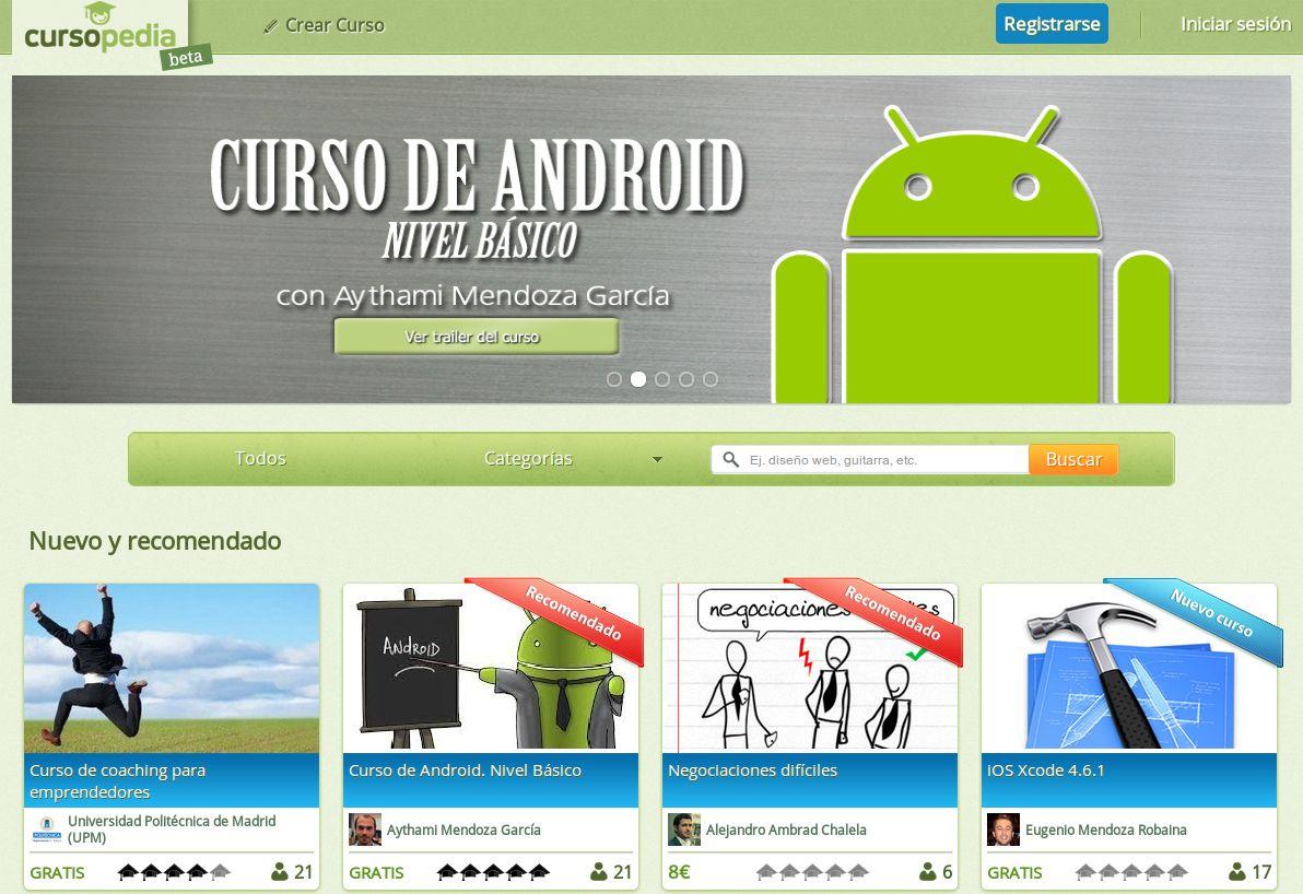 Cursopedia – Nueva plataforma de cursos online en español (algunos gratuitos)