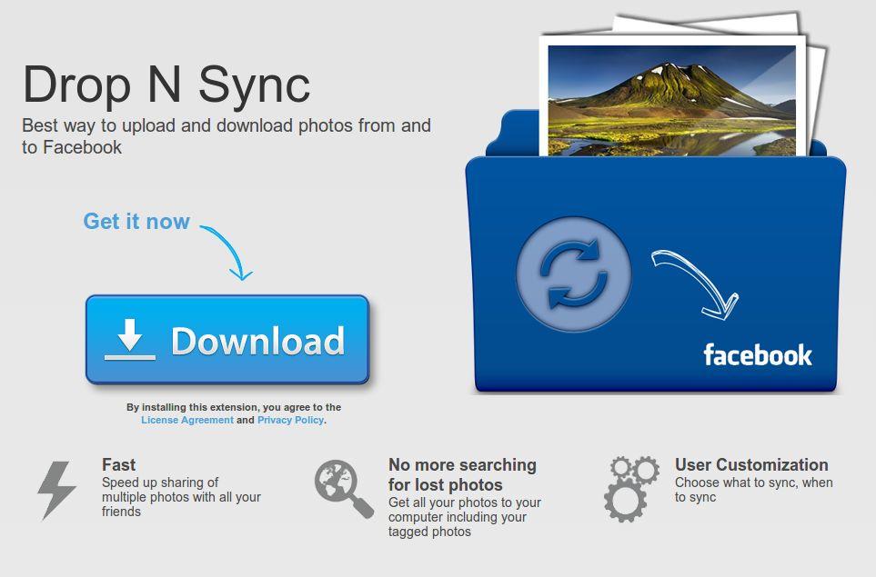 Drop N Sync – Para sincronizar las fotos del PC con las de Facebook