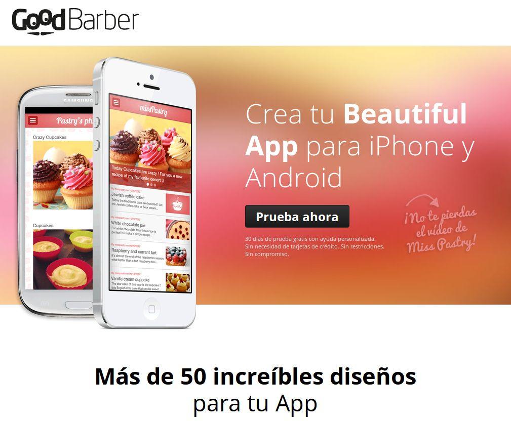Ya en español GoodBarber, plataforma para la creación de aplicaciones móviles