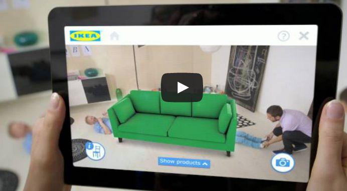 Aplicación de Realidad aumentada de IKEA pone los muebles en nuestra casa