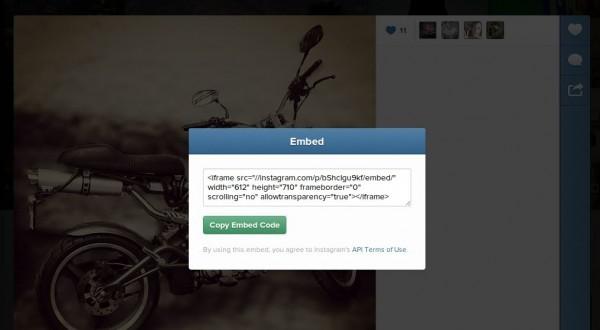 Instagram ya permite incluir su contenido en cualquier for Codigo nuevo instagram