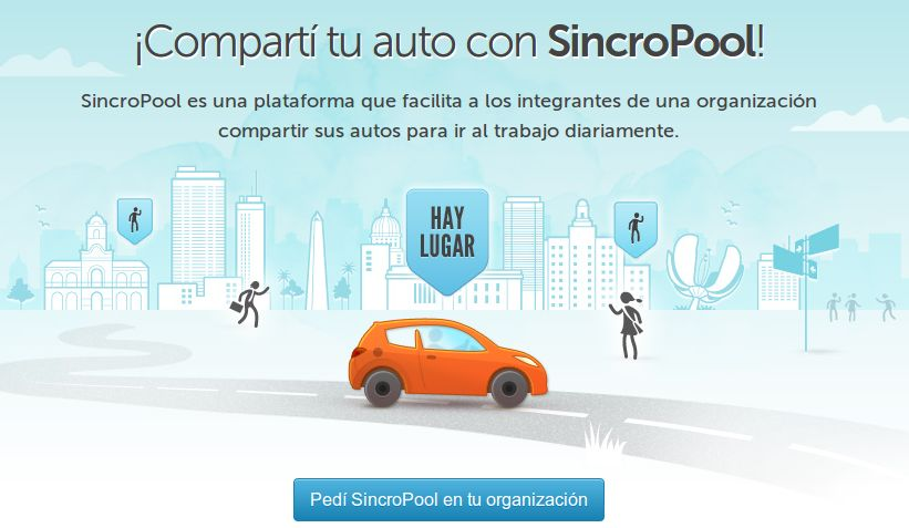 sincropool, para compartir coche con otras personas en Argentina y Perú