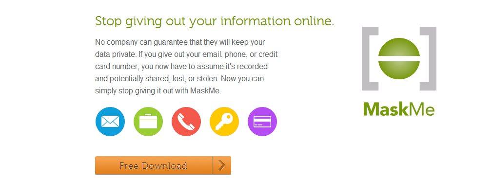 MaskMe, mantén segura la información que proporcionas online