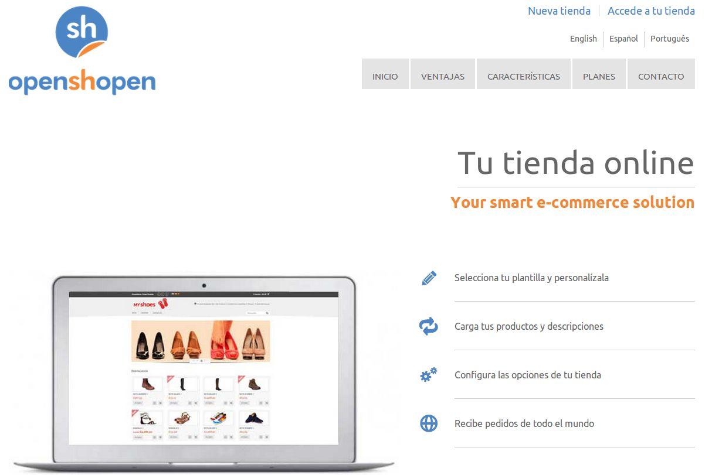 openshopen – crea una tienda online, con sistema de pago incluido, de forma gratuita y en español