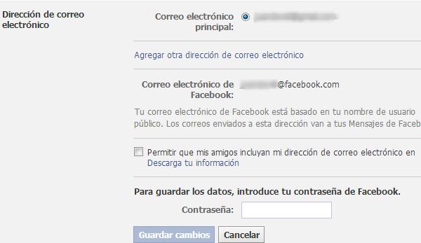 6 cuenta email facebook