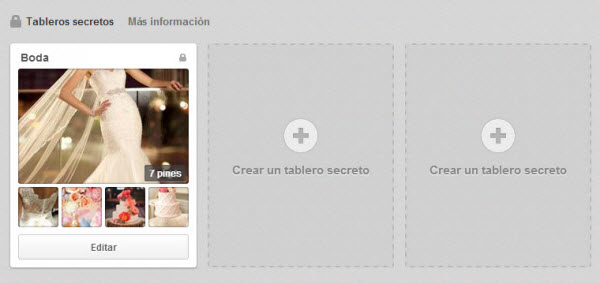 Tableros secretos en Pinterest