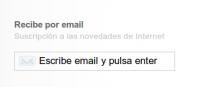 recibe newsletter