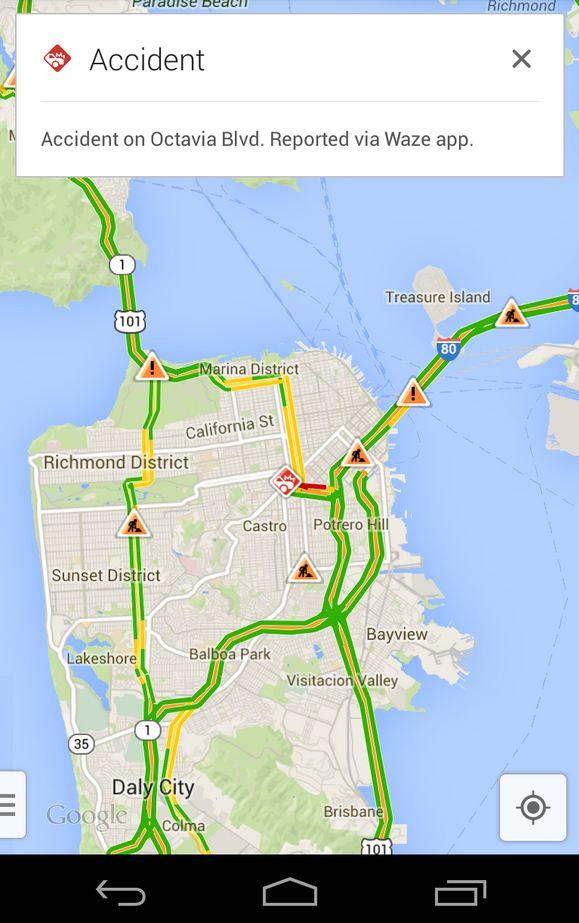 Google Maps y Waze se integran en la versión móvil