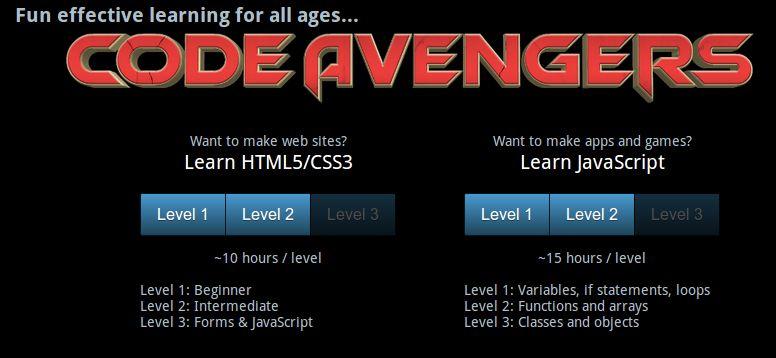 Code Avengers – Para aprender HTML 5, CSS3 y JavaScript