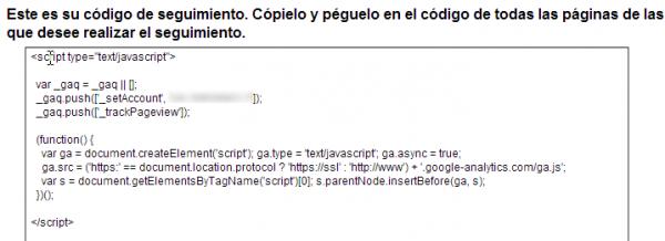codigo analytics