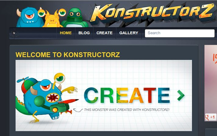 konstructorz, para diseñar robots, dragones, personajes…