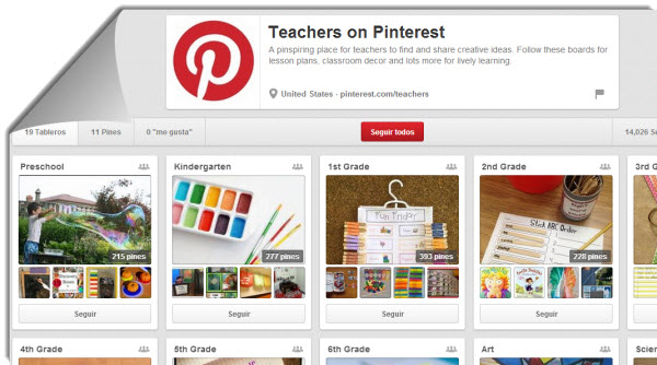 Teachers on Pinterest, un nuevo espacio para compartir ideas educativas