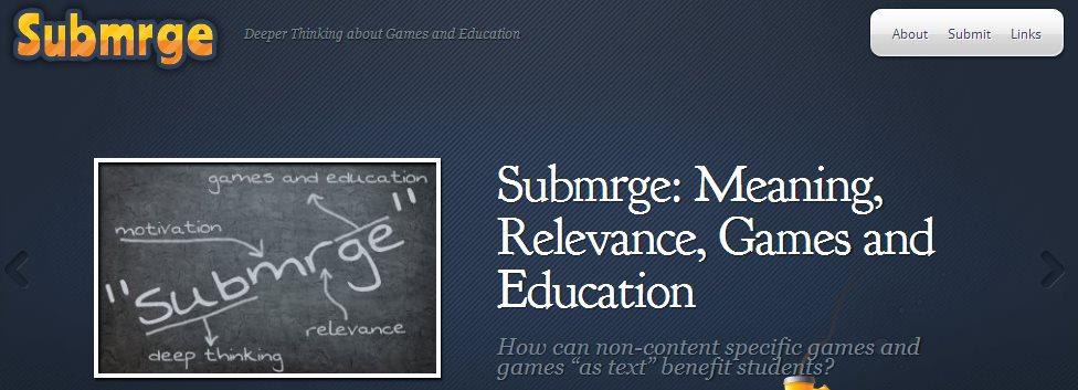Submrge, cómo utilizar los juegos con fines educativos