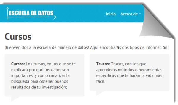 Cursos gratuitos en español para iniciarse en el uso y análisis de datos