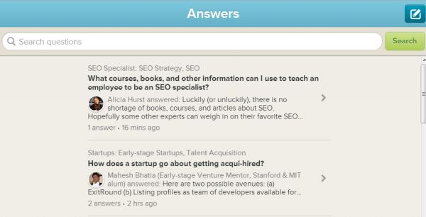 Clarity Answers, plataforma de preguntas y respuestas entre empresarios y expertos