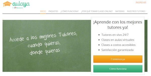 Aulaya, servicio de tutorías online para toda Latinoamérica, de Educatina