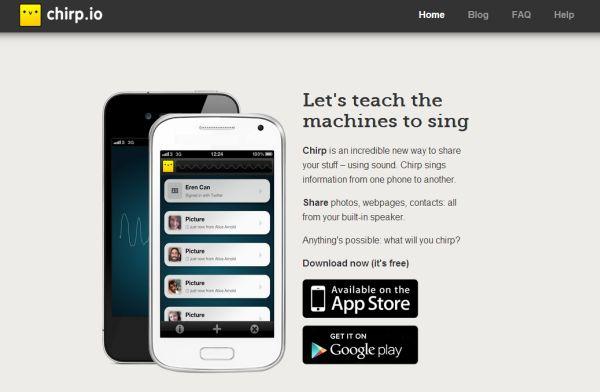 Chirp llega a la plataforma Android para compartir contenidos mediante la emisión de sonidos
