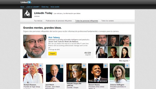 LinkedIn grandes personajes