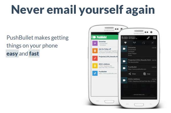 Nuevo PushBullet, para transferir archivos del PC a Android