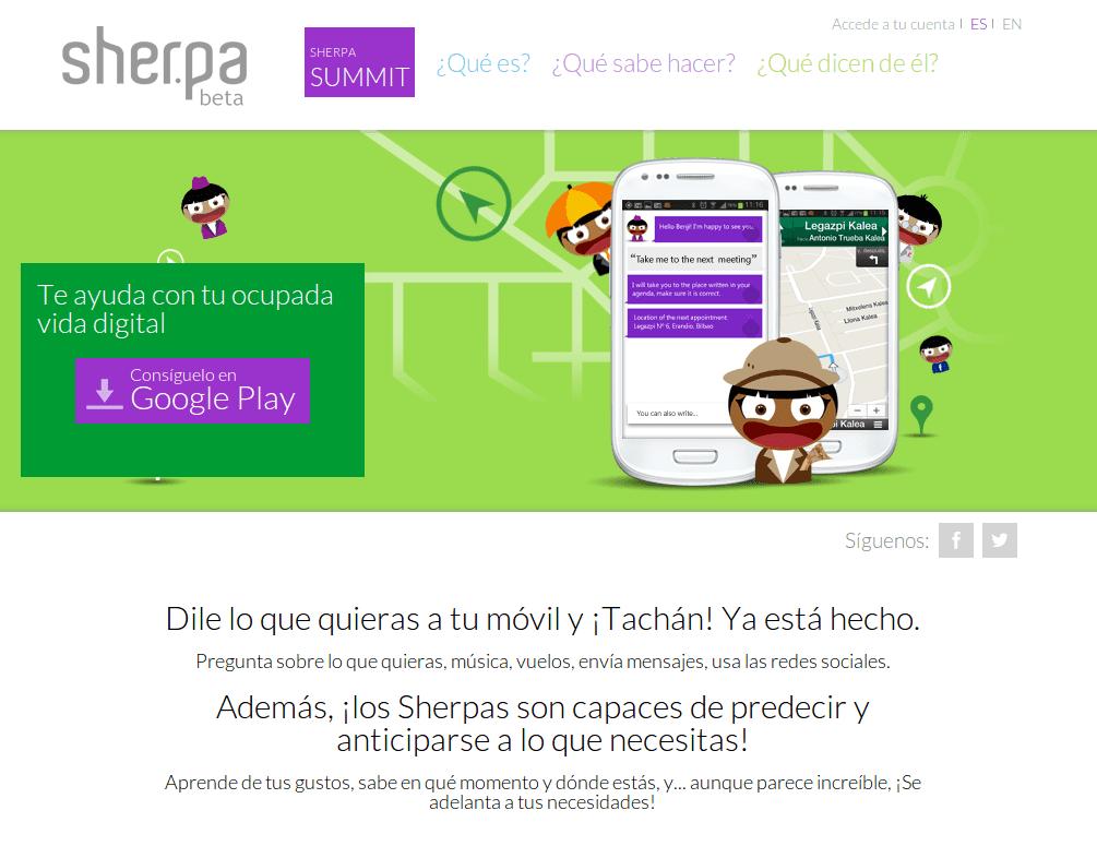 Sobre Sher.pa, la alternativa española de Siri para Android