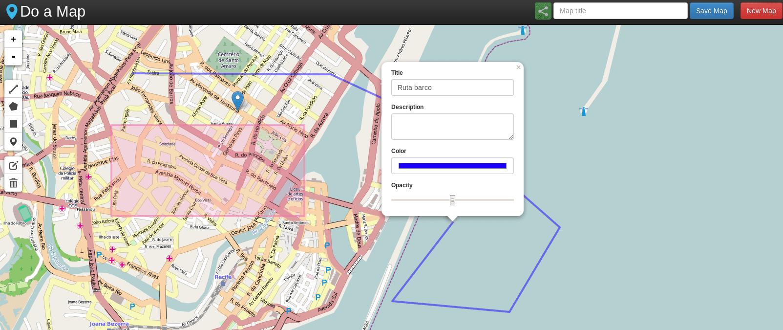 Do a Map – Para crear mapas personalizados y compartirlos con un click