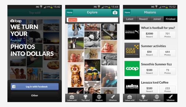 Foap, para vender tus fotos del móvil, llega a Android