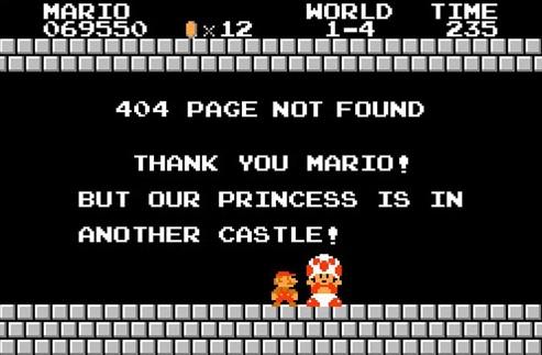 mario bros 404 page