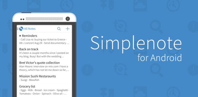 SimpleNote, el servicio de notas que compró Automattic, lanza versión para Android