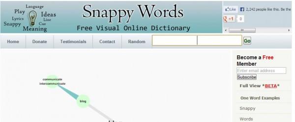 Snappy Words, diccionario y thesaurus visual y gratuito
