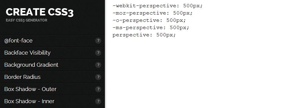 Createcss3, generador y creador de código en CSS