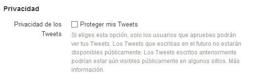 tweets protegidos
