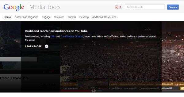 Google Media Tools, guía de servicios de Google que pueden ser usados por periodistas