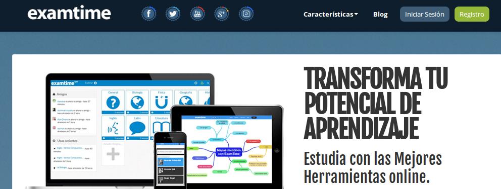 Nueva versión de ExamTime, la plataforma online de estudio, con mensajes, fórmulas, calendario…