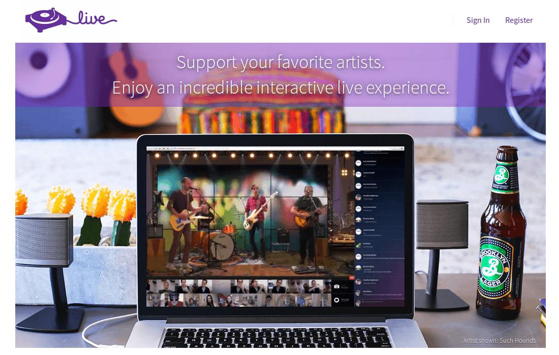 turntable Live – Donde los artistas hacen conciertos online y cobran entrada a los internautas