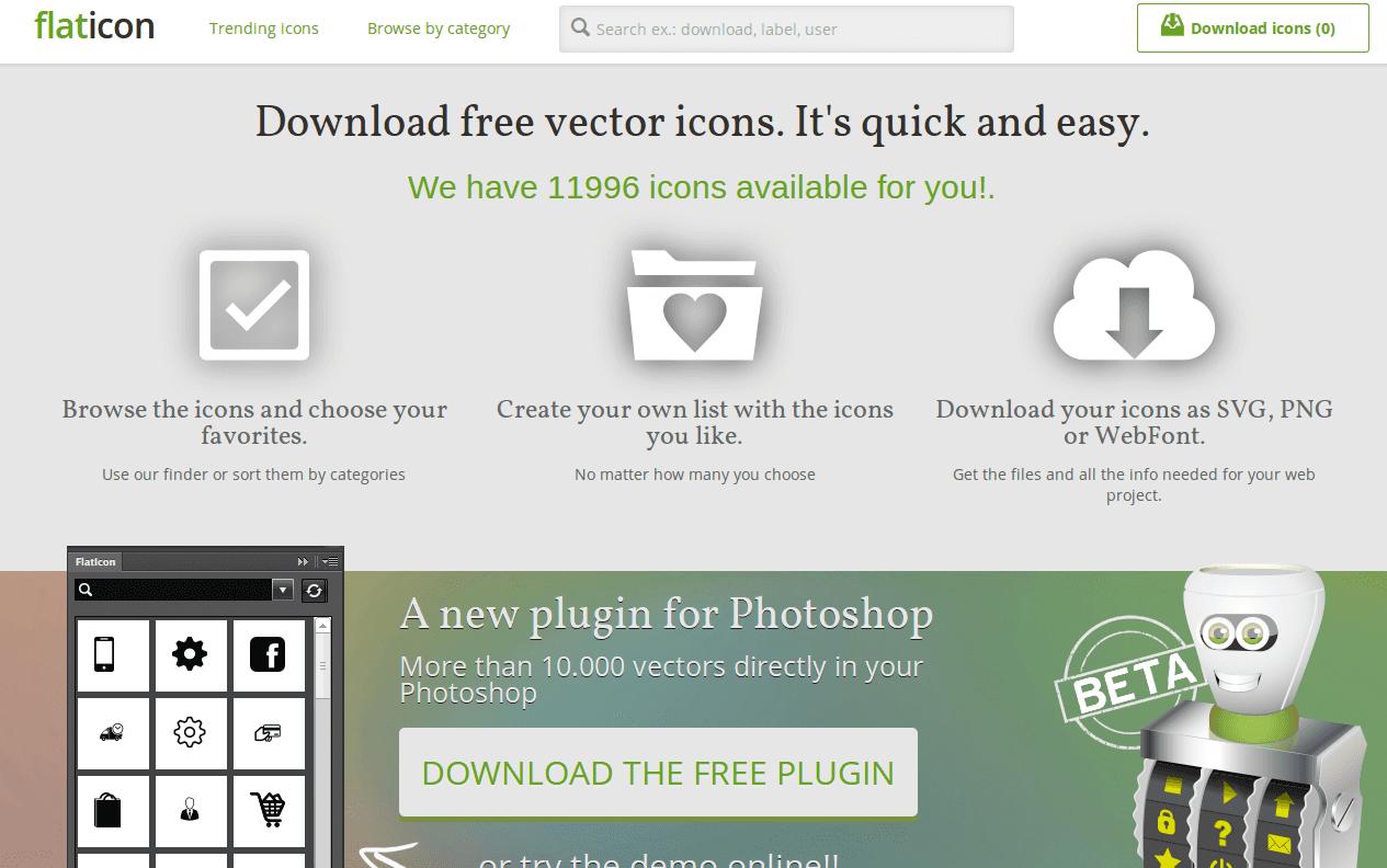 flaticon, buscador de iconos gratuitos