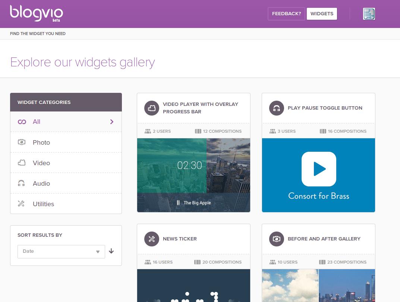 Blogvio, el creador de widgets personalizados, ya disponible para todos