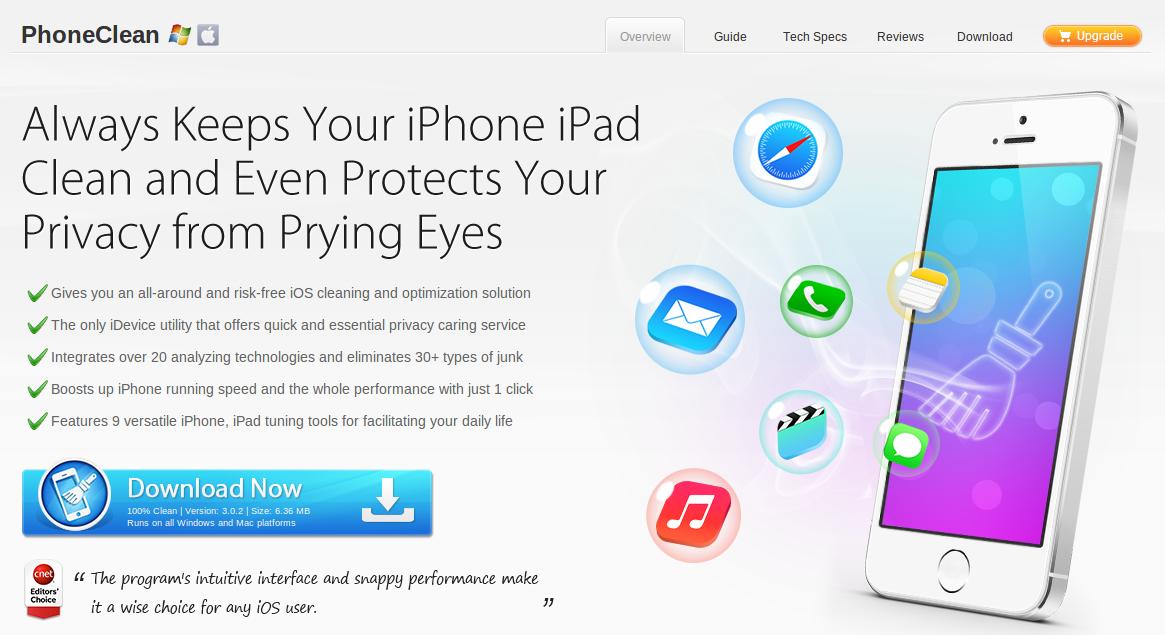 """Nuevo PhoneClean, para """"limpiar"""" los iPhone/iPad viejos y dejarlos como nuevos"""