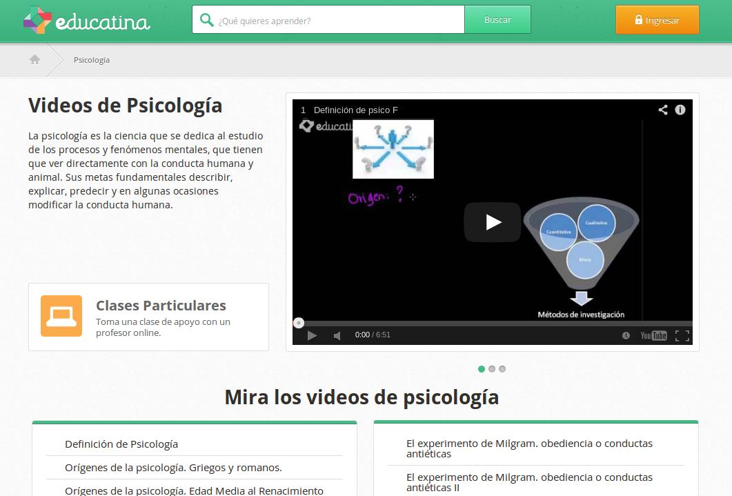 Vídeos en español sobre Psicología – orígenes y métodos de investigación