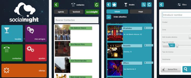 Socialnight – aplicación móvil de ocio nocturno