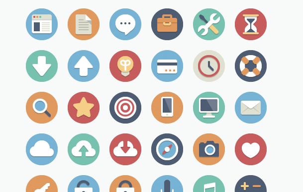 90 iconos, con dos variaciones cada uno, disponibles de forma gratuita en elegantthemes