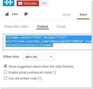 Para añadir en tu sitio vídeos de Youtube que adaptan su tamaño automáticamente