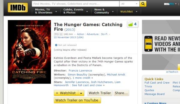 imdb trailers