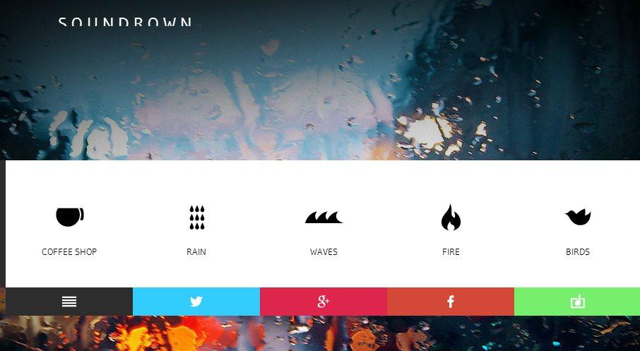 soundrown, para crear sonidos ambientales personalizados